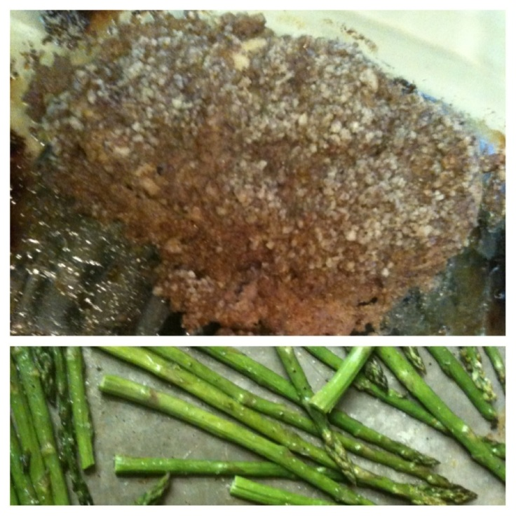 Honey Pecan Crusted Chicken and Asparagus