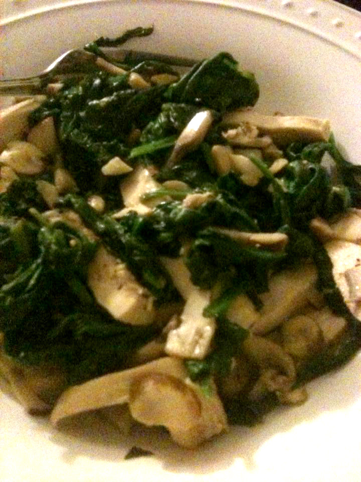 chicken, spinach