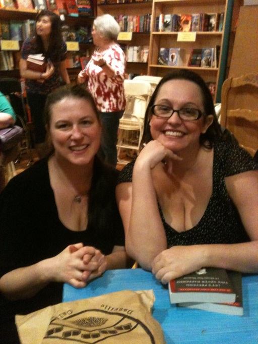 Me and Jenny Lawson.  I am trying desperately to contain my fangirl.