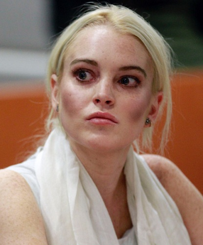 This could be any young celebrity who doesn't take responsibility for their actions, but The Lohan will do.
